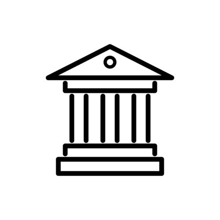 Courthouse icon flat vector template design trendy