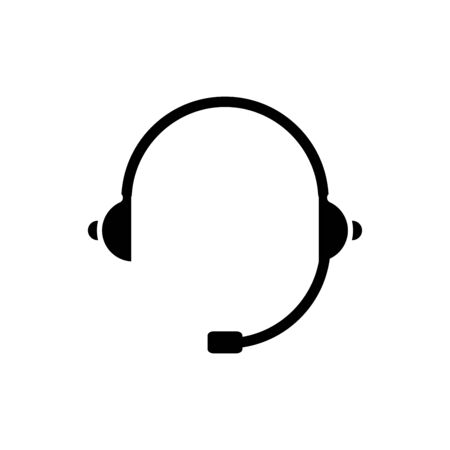 Headset icon flat vector template design trendy Vettoriali