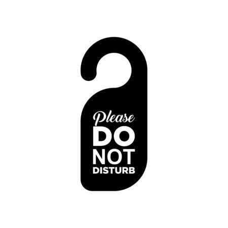 Do not disturb icon vector illustration template design trendy