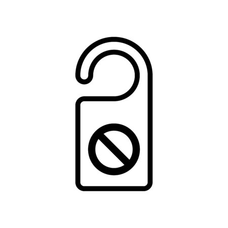 Do not disturb icon vector illustration template design trendy