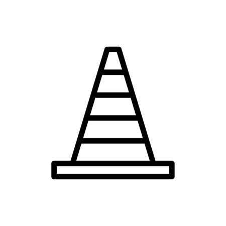 Block cone icon vector illustration template design trendy