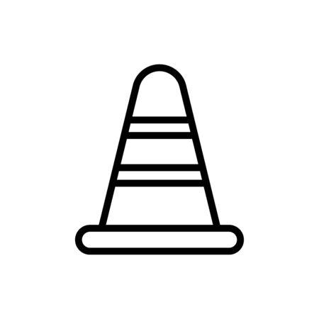Block cone icon vector illustration template design trendy Illustration