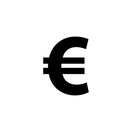 Euro money icon vector illustration template design trendy Illusztráció