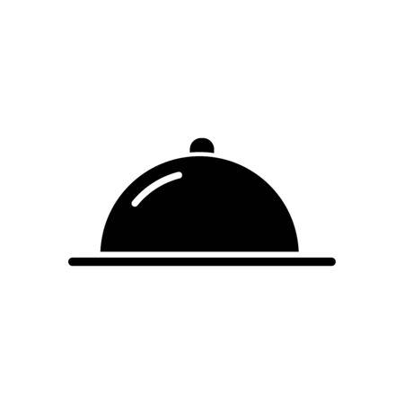 Cloche dome icon flat vector template design trendy Illustration