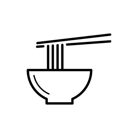 Noodle icon vector illustration template design trendy