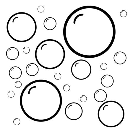 Bubble of water icon flat vector template design trendy Illustration