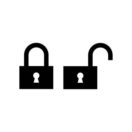 Padlock icon flat vector template design trendy