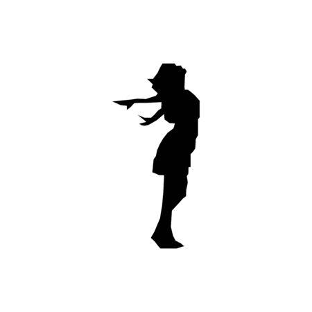 Dancing women icon flat vector template design trendy