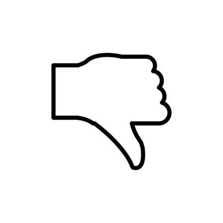 Thumb icon flat vector template design trendy
