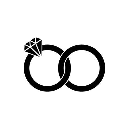 Ring icon vector illustration template design trendy Vektoros illusztráció