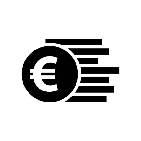 Euro money icon vector illustration template design trendy