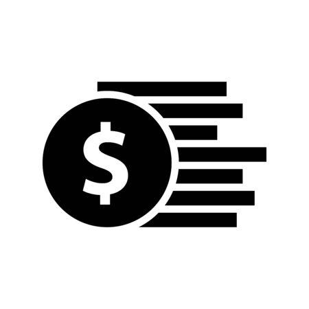 Dollar money icon vector illustration template design trendy