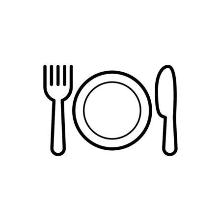 Restaurant icon vector illustration template design trendy Illustration