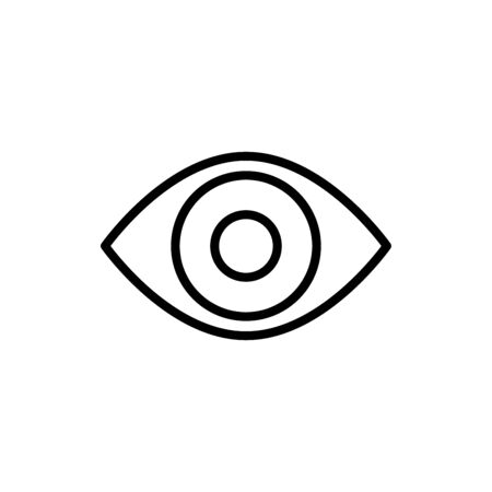 Eye icon vector illustration template design trendy