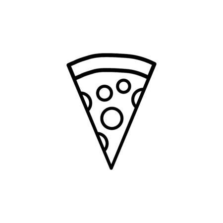 Pizza icon vector illustration template design trendy
