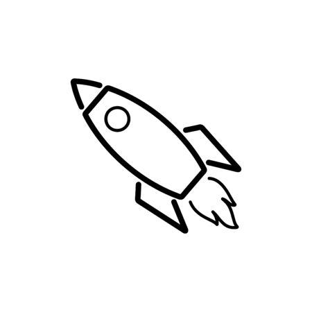 Rocket icon vector illustration template design trendy