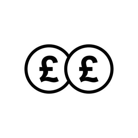 Pound sterling money icon vector illustration template design trendy Vetores