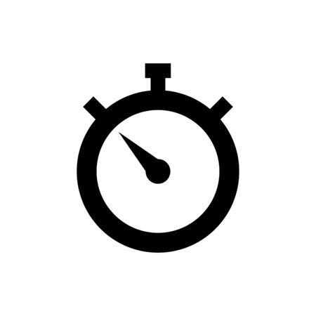 Chronomètre icône vecteur plat modèle de conception à la mode Vecteurs