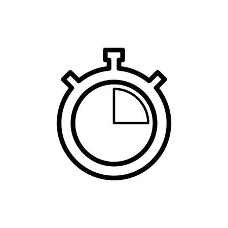 Stopwatch icon flat vector template design trendy