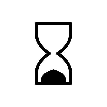 Sand glass icon flat vector template design trendy