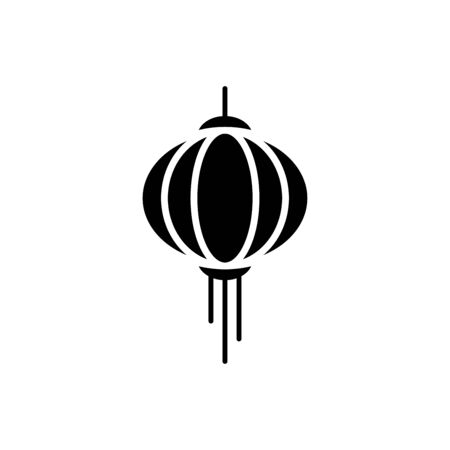 Chinese Lantern icon flat vector template design trendy