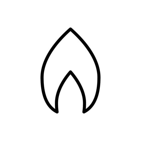 Fire icon flat vector template design trendy