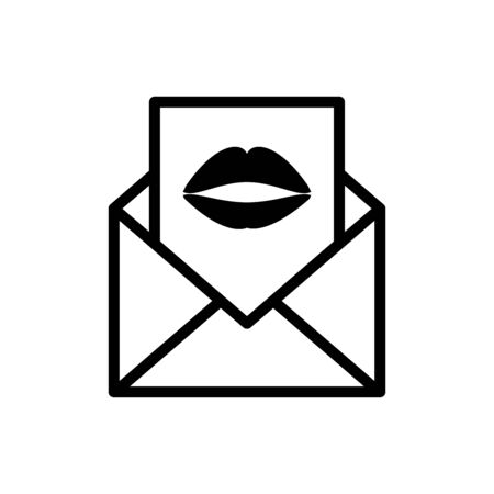 Envelope icon flat vector template design trendy
