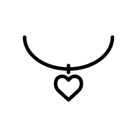 Necklace icon flat vector template design trendy Ilustrace
