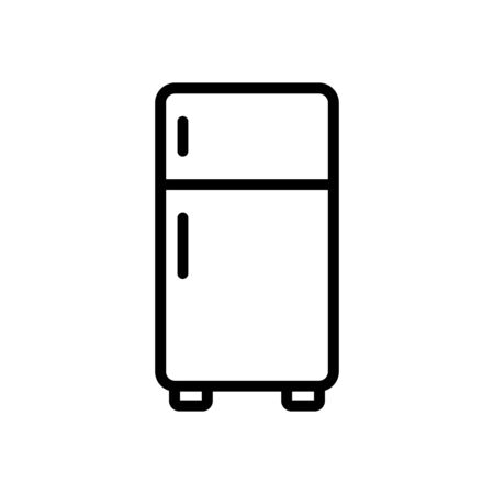 Refrigerator icon flat vector template design trendy