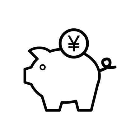 Piggy bank icon vector illustration template design trendy 向量圖像