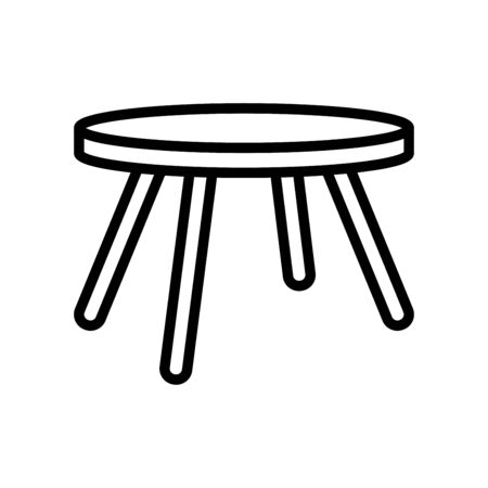 Table icon flat vector template design trendy