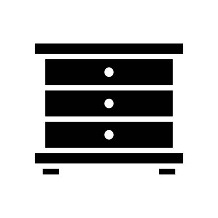 Cupboard icon flat vector template design trendy Stock Illustratie