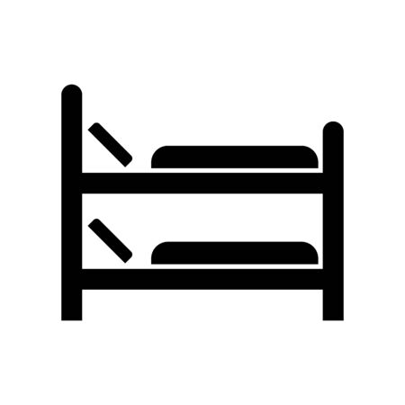 Bed icon flat vector template design trendy