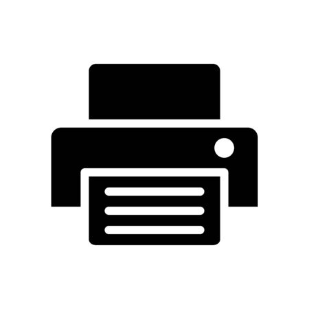 Printing machine icon flat vector template design trendy