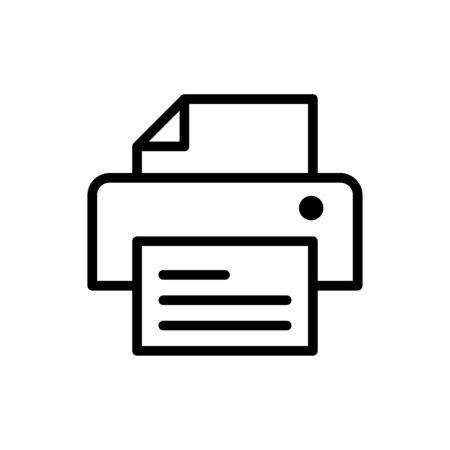 Printing machine icon flat vector template design trendy