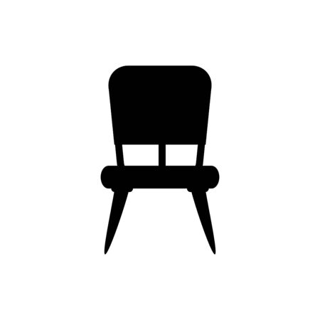Chair icon flat vector template design trendy