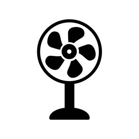 Fan icon flat vector template design trendy  イラスト・ベクター素材