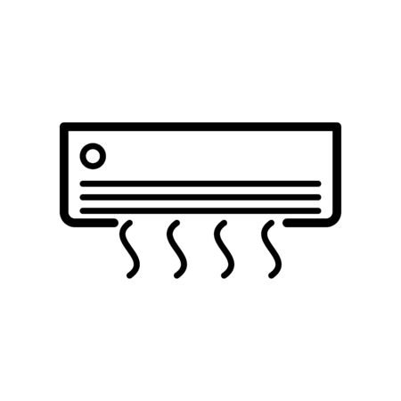 Air conditioning icon flat vector template design trendy