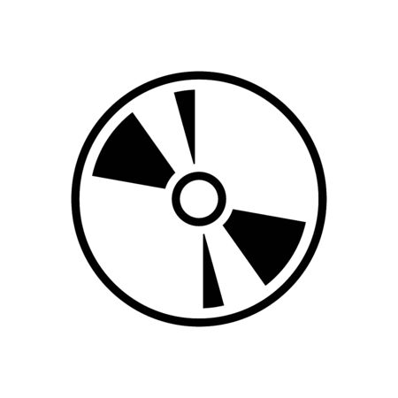 CD icon flat vector template design trendy Vektorové ilustrace