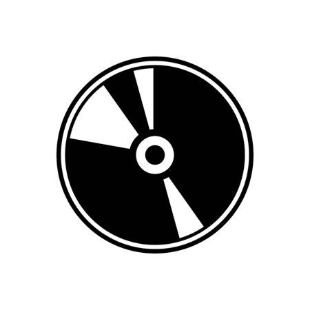 CD icon flat vector template design trendy