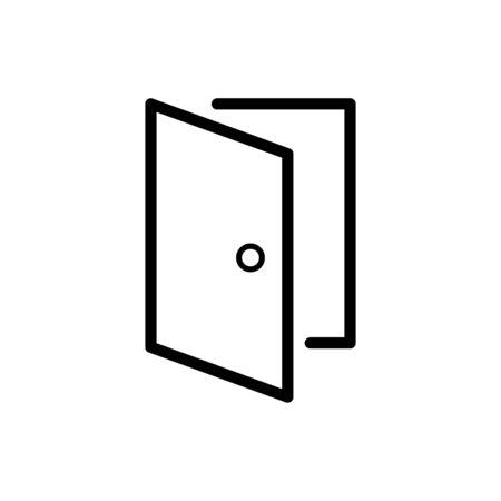Door icon flat vector template design trendy