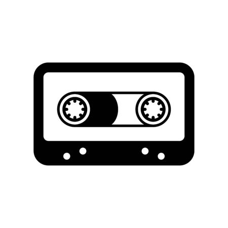 Cassette icon flat vector template design trendy
