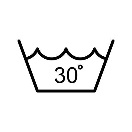 Temperature water icon flat vector template design trendy Vettoriali