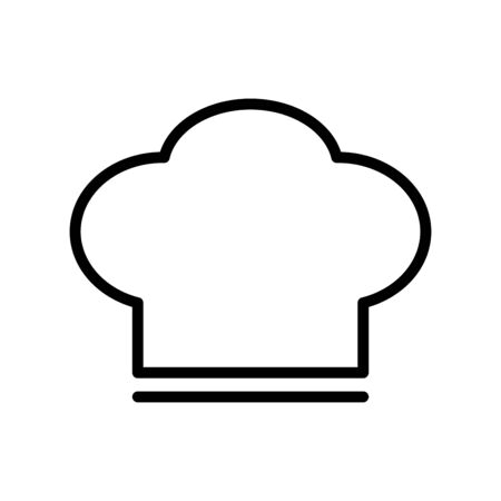 Chef hat icon flat vector template design trendy