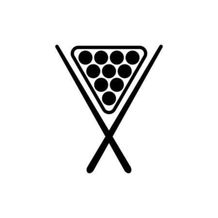 Billiard icon flat vector template design trendy