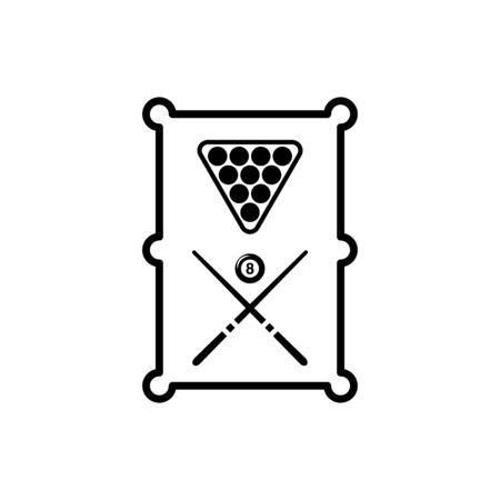 Billiard icon flat vector template design trendy Vector Illustratie