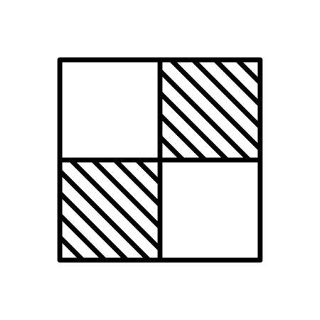 Chess board icon flat vector template design trendy