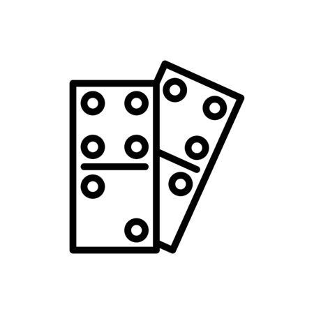 Domino icon flat vector template design trendy Illustration