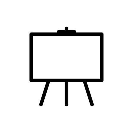White board icon flat vector template design trendy