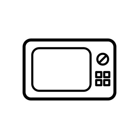 Microwave icon flat vector template design trendy